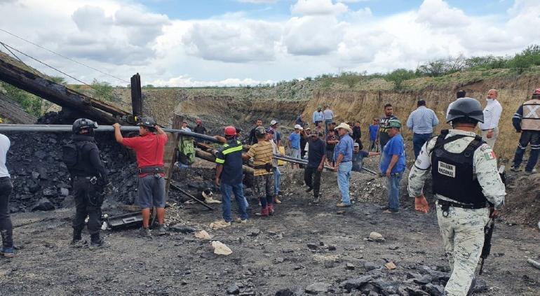 Desbordamiento e inundación causarían colapso de mina en Coahuila
