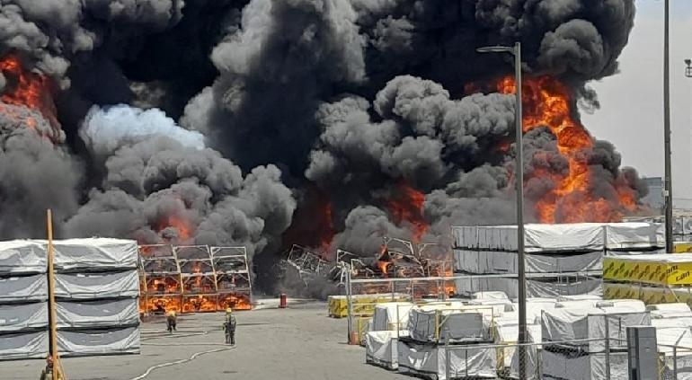 Megaincendio en maquila BRP 2 en Ciudad Juárez