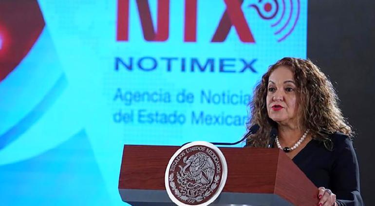 Ultimátum del Gobierno: cerrará Notimex si no trabajan con Sanjuana