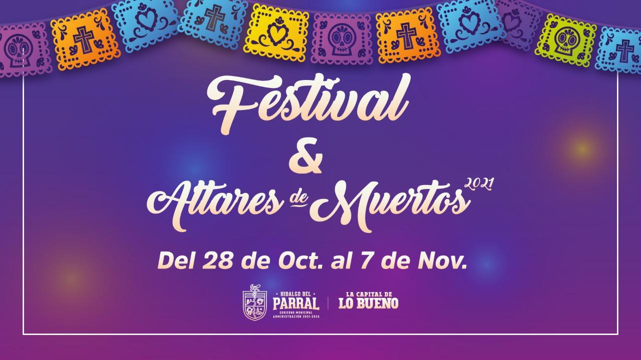 Este jueves la inauguración del Festival de Día de Muertos 2021 con el Altar Monumental de la Presidencia Municipal
