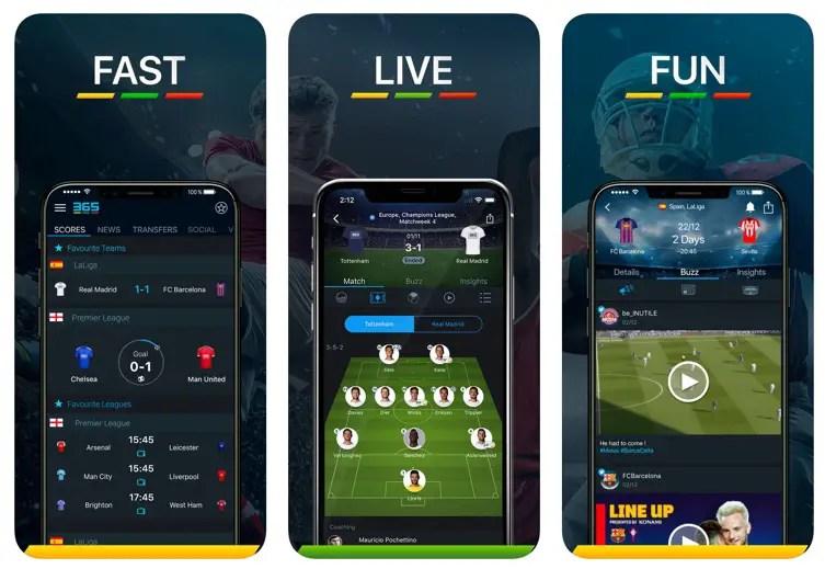 Aplicación 365 Scores de resultados en vivo