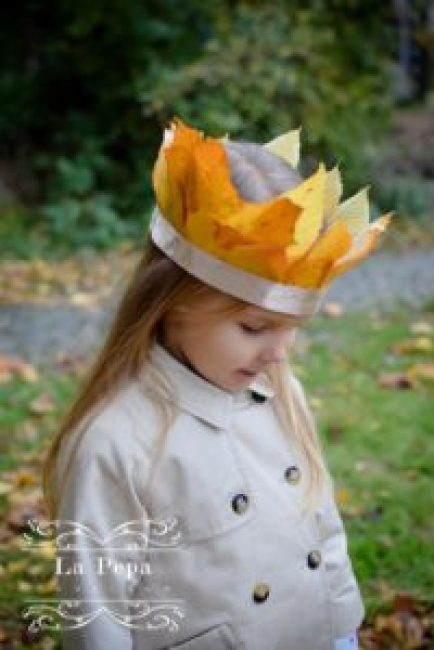 autumn leaf crown
