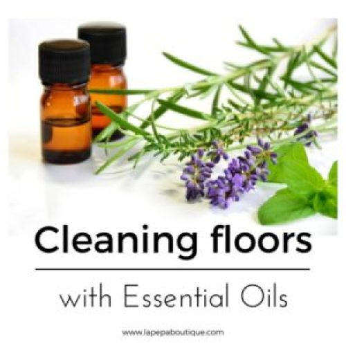 Cleaning floors with essential oils