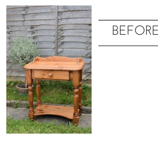 Upcycle | From Shabby to Chic Console Table