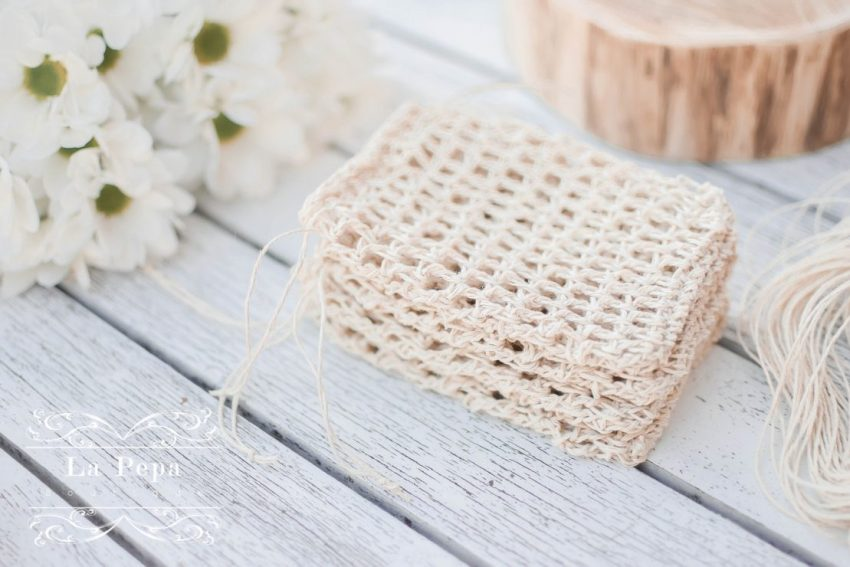 Keep it Simple | Crochet Hemp Dishcloth and Soap Saver 5