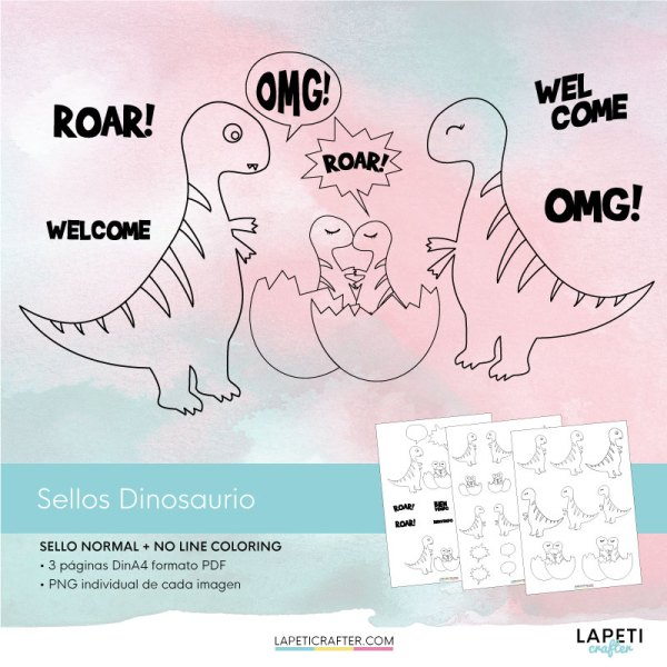 digi stamp dinosaurio