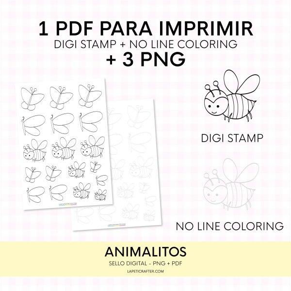 digi stamp mariposa