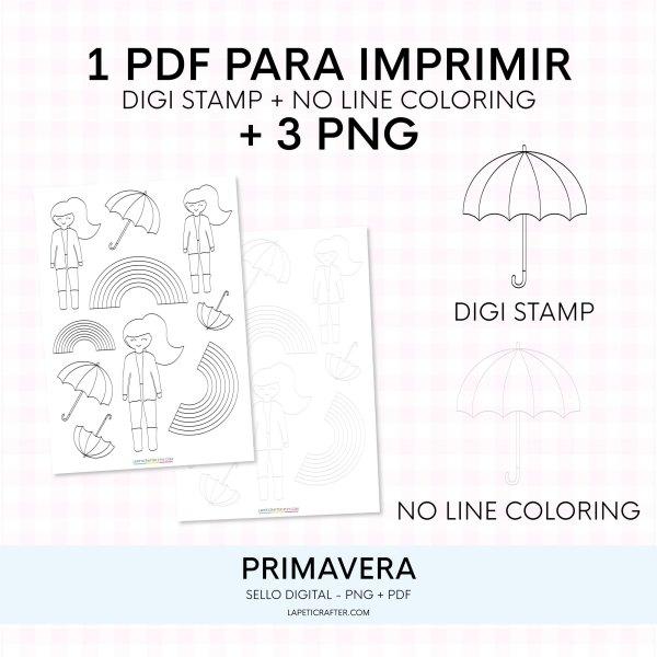 sello digital lluvia