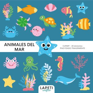 clipart animales del mar