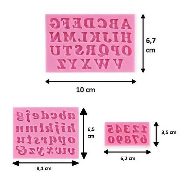 moule silicone chiffre lettre alphabet