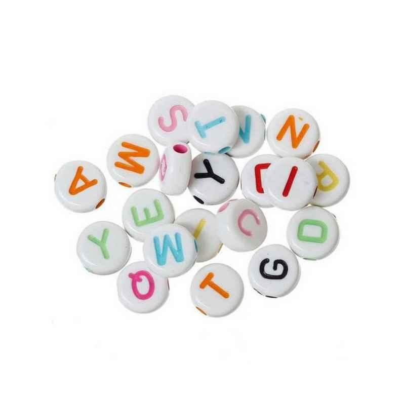 perle ronde alphabet 7 mm