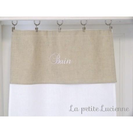 rideau sous evier rideau sous lavabo en lin brode