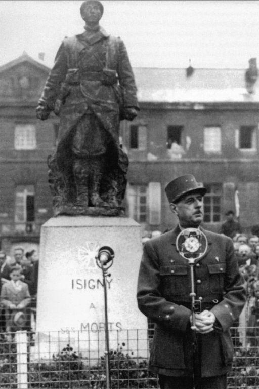 Le Général de Gaulle à Isigny sur Mer