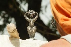 La déesse Danu en bronze, ...