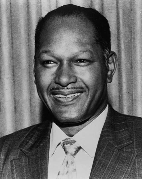 a portrait of mayor Tom Bradley