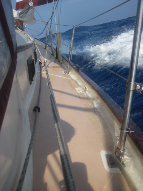 Southern Cross 31 leeward side