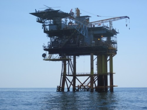 Friendly Oil rig in the Gulf of Mexico