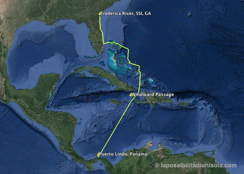 Sailing to Panama: the route