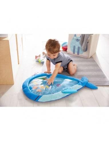 tapis de jeu a eau eveil aquatique grand baleine haba