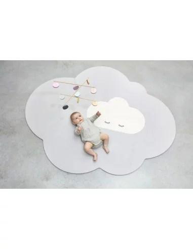 grand tapis de jeu nuage gris perle quut
