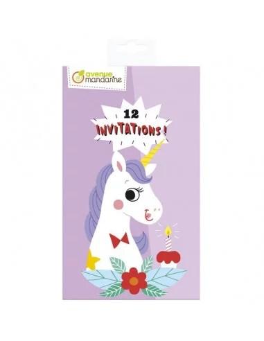 cartes d invitation licornes avenue mandarine