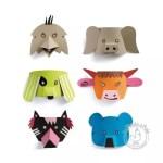 Masque animaux carton