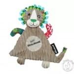 Doudou lion Jélékros - Les Déglingos - Doudou plat bébé