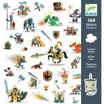 Stickers chevaliers chateau coffret fort Djeco