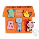 Puzzle animaux de la ferme barita - Djeco