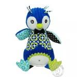 Pingouin en peluche en velours pour enfant