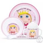 Coffret de vaisselle en plastique résistant pour fille