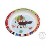 Assiette coloré avec un loup pour enfant