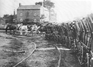 """2 - """"Little Eaton"""" gangway"""", la prima ferrovia a cavalli risalente al 1795."""