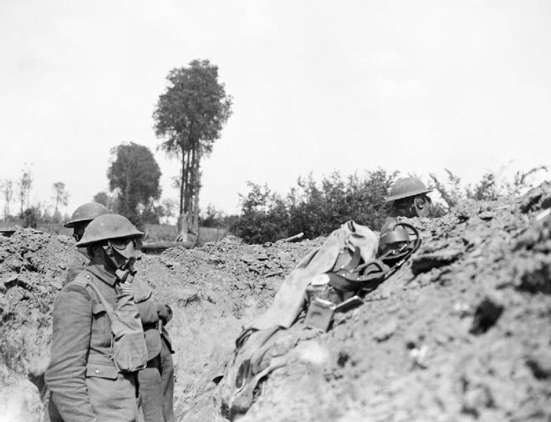 Royal_Scots_in_gas_masks_25-06-1918