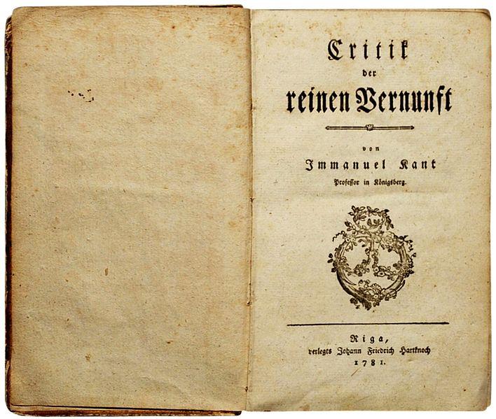 Kant_Kritik_der_reinen_Venunft_1781