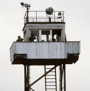 Torre di osservazione lungo il confine della DDR