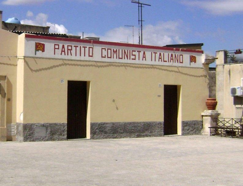 Sede storica del PCI a Mineo, Sicilia.