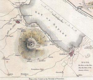 Dettaglio: area del Vesuvio con Pompei e Napoli