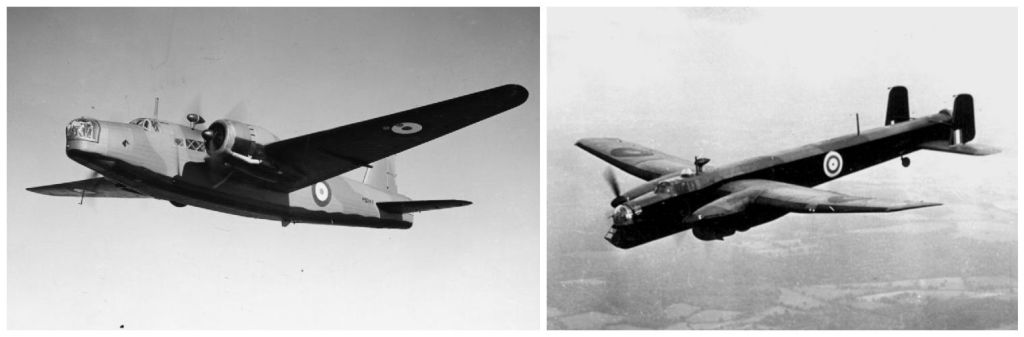 RAF: un Vickers Wellington (sinistra) e un Whitworth Whitley (destra).