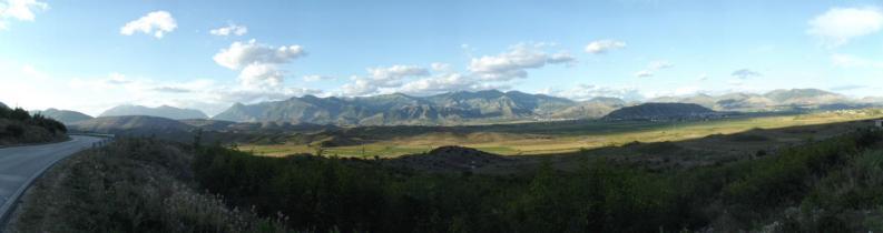 Panorama lungo la strada per Saranda
