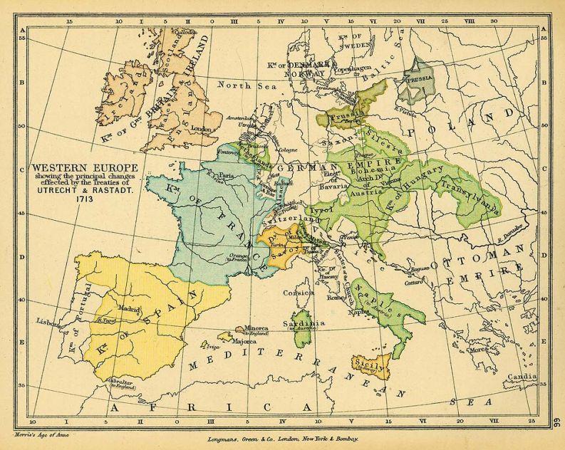 Europa dopo il trattato di Ultrecht del 1713
