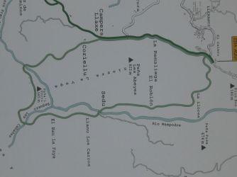 Mapa ruta senderista Bosque de Cea