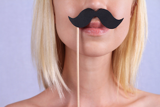 woman with a mustache