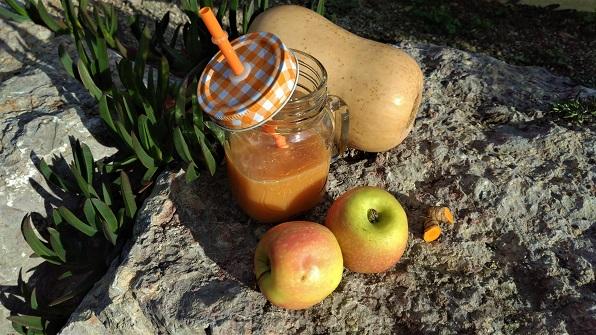 Zumo de calabaza y manzana