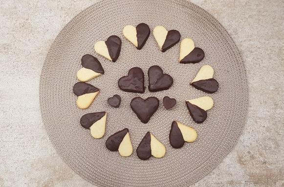Galletas keto de San Valentín