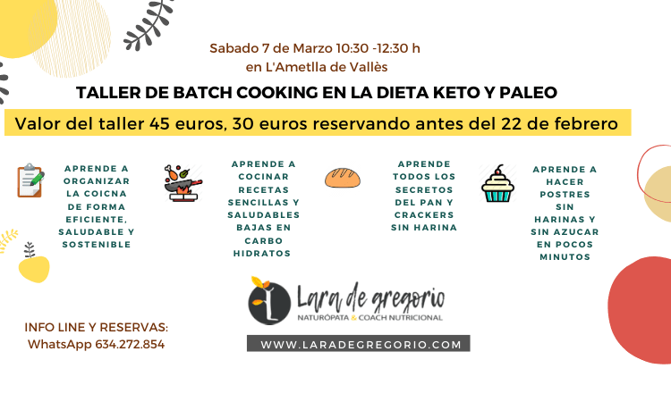 Batch Cooking Keto y Paleo
