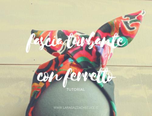 fascia turbante tutorial