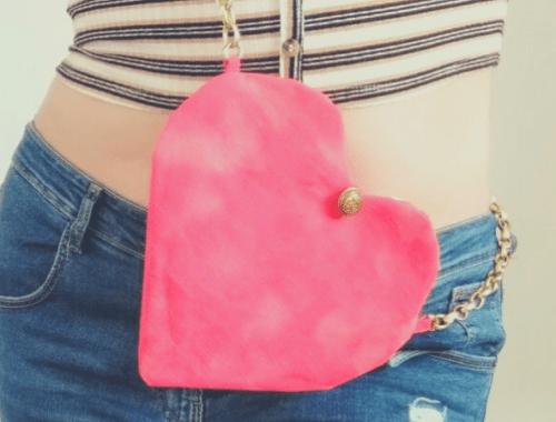 borsa a forma di cuore san valentino