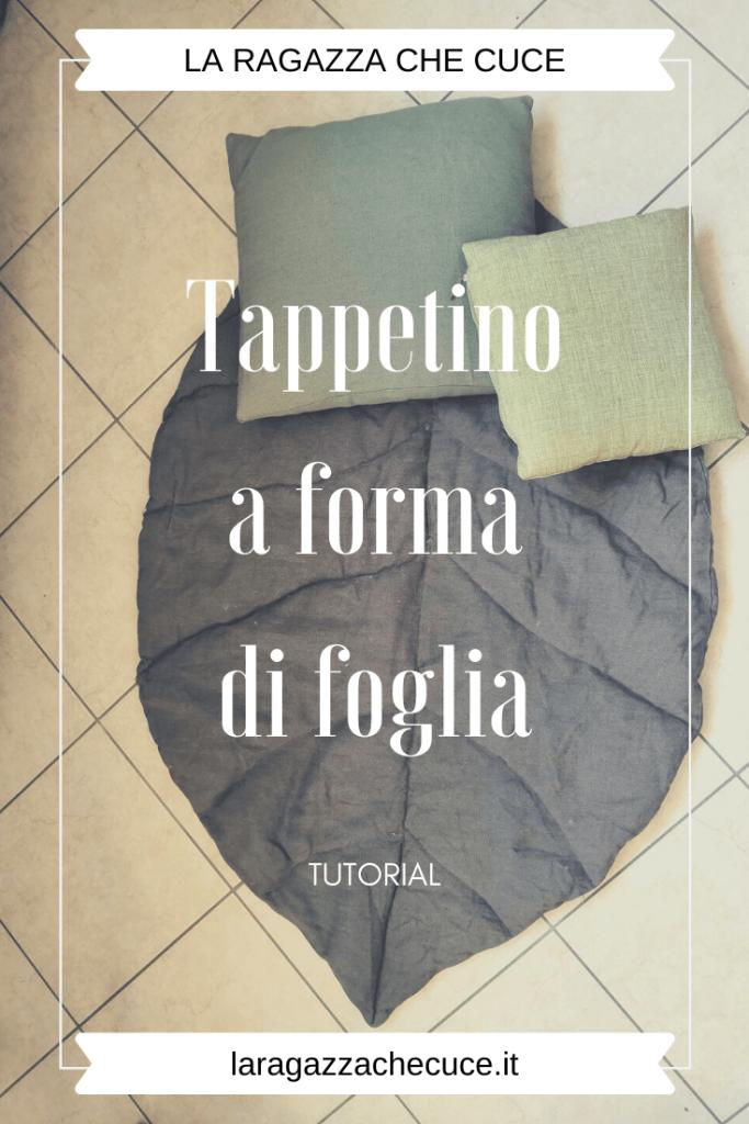 come cucire un tappetino lavabile a forma di foglia per bambini