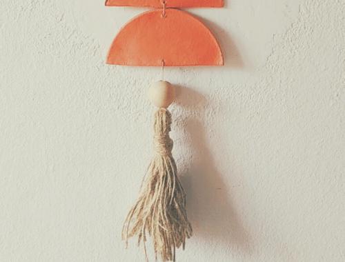decorazione da parete diy lavoretti das macramè perline di legno nappine